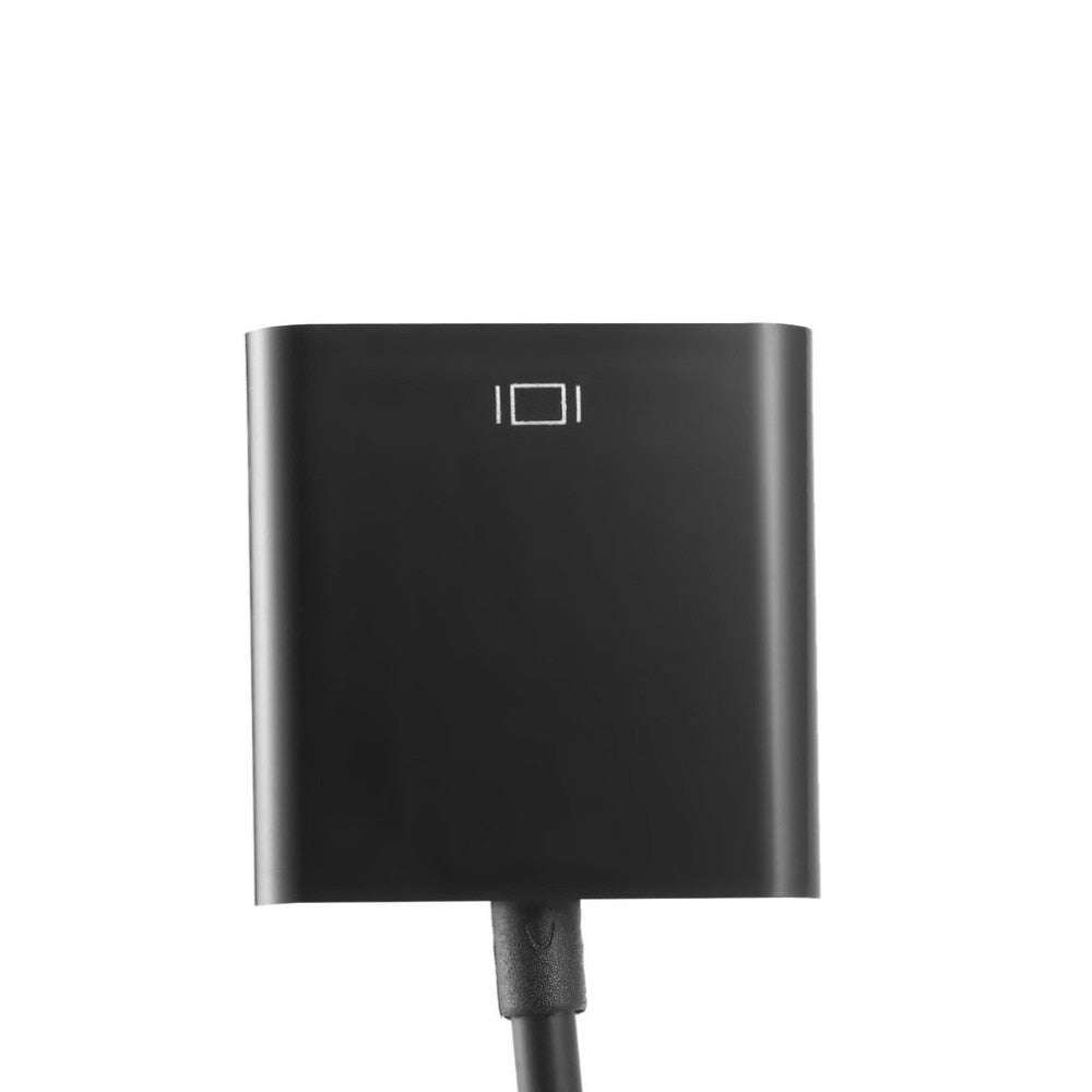 HDMI to VGA Adapter with 3.5mm Audio Port - Black