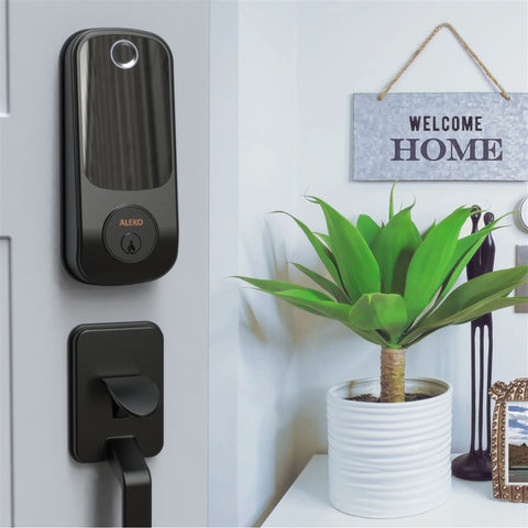 Image of 3 in 1 Keyless Entry Smart Door Fingerprint Lock with Touchscreen Keypad Black