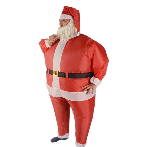 Inflatable Santa Claus Costume With Beard and Hat