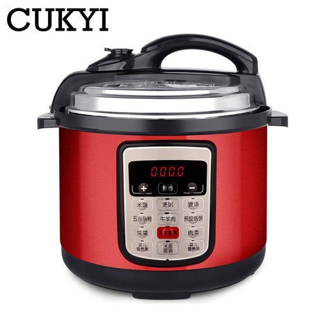 Image of 6L 8L Multifunction Stainless Steel Electric Pressure Cooker digital control multicooker rice steamer slow cooking pot