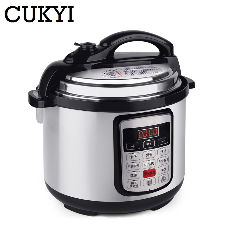 6L 8L Multifunction Stainless Steel Electric Pressure Cooker digital control multicooker rice steamer slow cooking pot