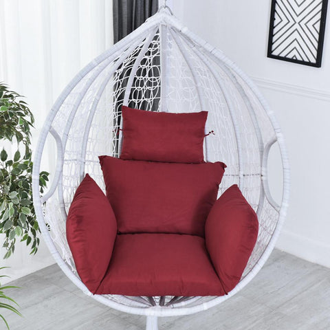 Image of Hanging Hammock Chair Swinging Garden Outdoor Soft Seat Cushion Seat 220KG Chair Back with Pillow