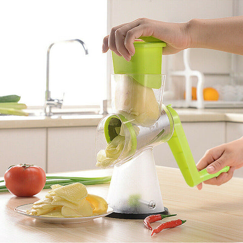 Image of Manual Vegetable Cutter Slicer Multifunctional Round Mandoline Slicer Potato Cheese Kitchen Gadgets Kitchen Accessories