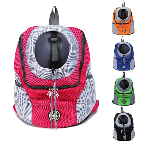 Outdoor Pet Dog Carrier Bag Pet Dog Front Bag New Out Double Shoulder Portable Travel Backpack Mesh Backpack Head