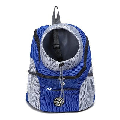 Image of Outdoor Pet Dog Carrier Bag Pet Dog Front Bag New Out Double Shoulder Portable Travel Backpack Mesh Backpack Head