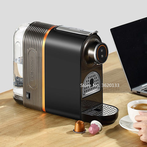 Image of Authentic 20Bar Coffee Machine Italian Capsule Fully Automatic Mini Hot Drink Machine Coffee Pot with 500ml Water Tank 960W 220V