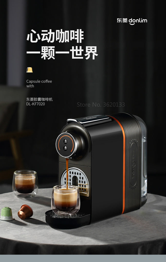 Authentic 20Bar Coffee Machine Italian Capsule Fully Automatic Mini Hot Drink Machine Coffee Pot with 500ml Water Tank 960W 220V