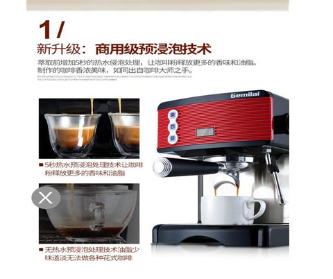 Image of Home 15bar Coffee Machine Fully Semi-automatic Italian Pump Type