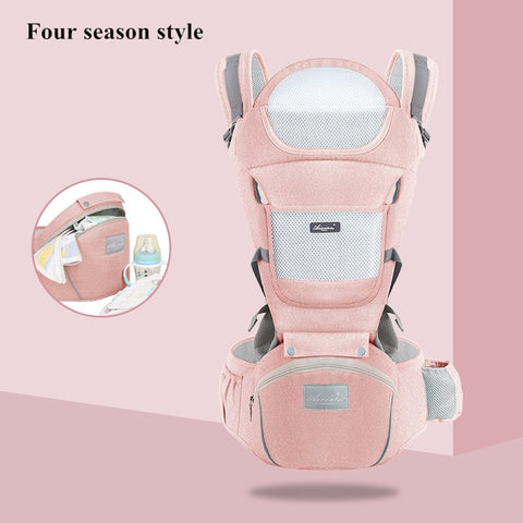 Image of Ergonomic new born Baby Carrier Infant Kids Backpack Hipseat Sling Front Facing Kangaroo Baby Wrap for Baby Travel 0-36 months