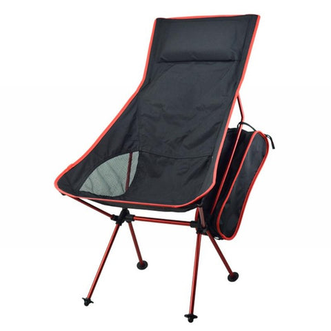 Image of Outdoor Camping Chair Oxford Cloth Portable Folding Camping Chair Seat for Fishing Festival Picnic BBQ Beach Stool With Bag
