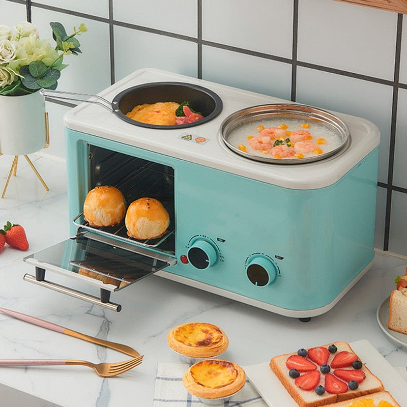 Electric 3 in 1 Household Breakfast machine mini bread toaster