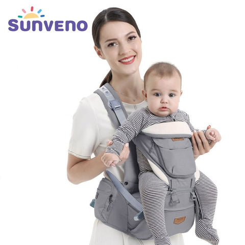 Image of Ergonomic 4 in 1 Baby Carrier Infant Hip seat Carrier Kangaroo Sling  Front Facing Backpacks for Baby Travel Activity Gear