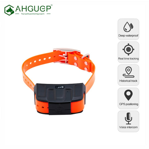 Mini Hound GPS Tracker Deep Waterproof Voice Monitor Smart Hunting Dog Locator Collar For Animal  Positioning