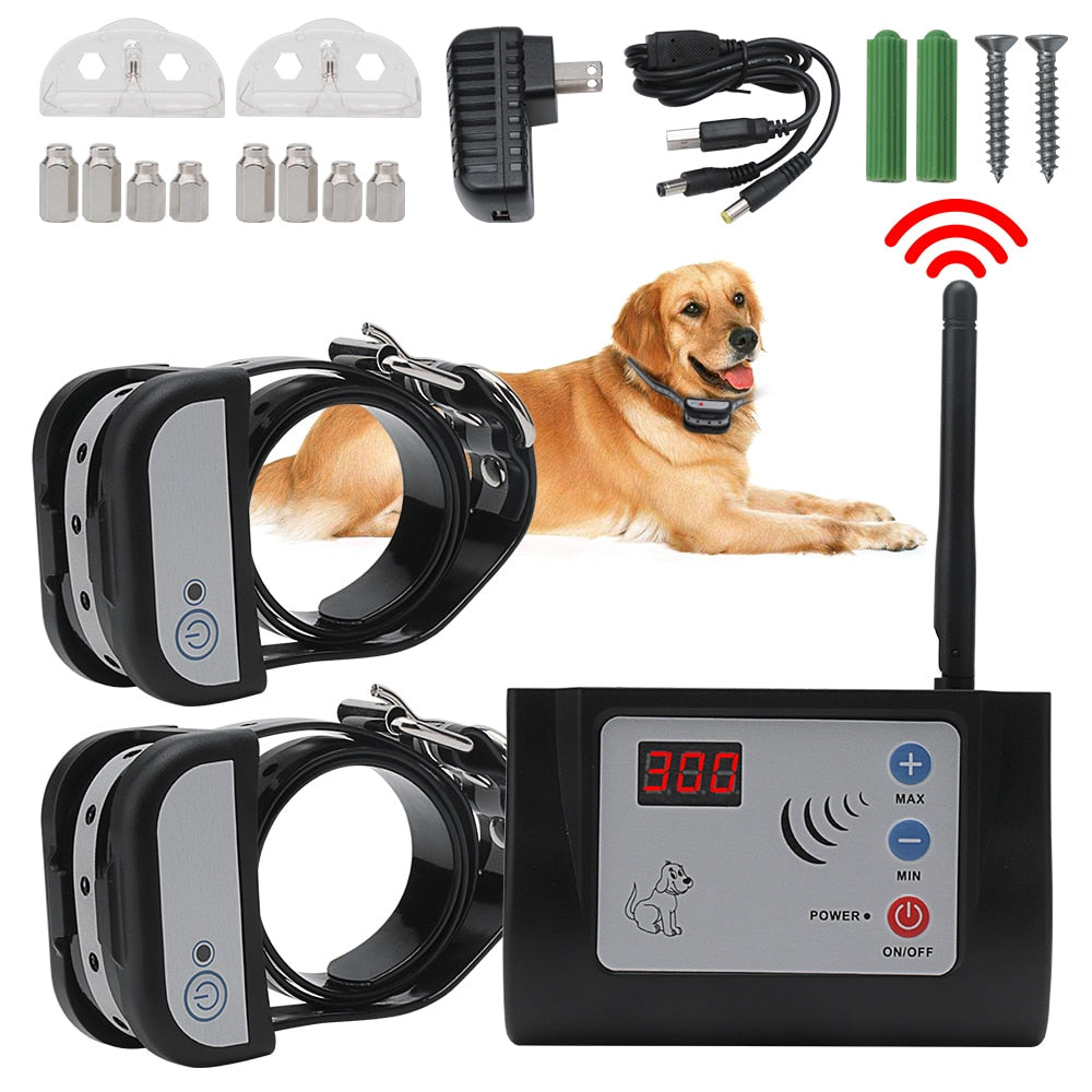 Wireless Electronic Pet Fence with Waterproof Rechargeable Training Collar for Dogs Home Fence System 2021 New