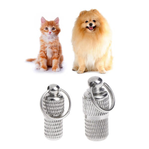 2021 New Anti Lost Barrel Tube Collar Dog Tags Pet For Pet Id Tag Name Identity Address