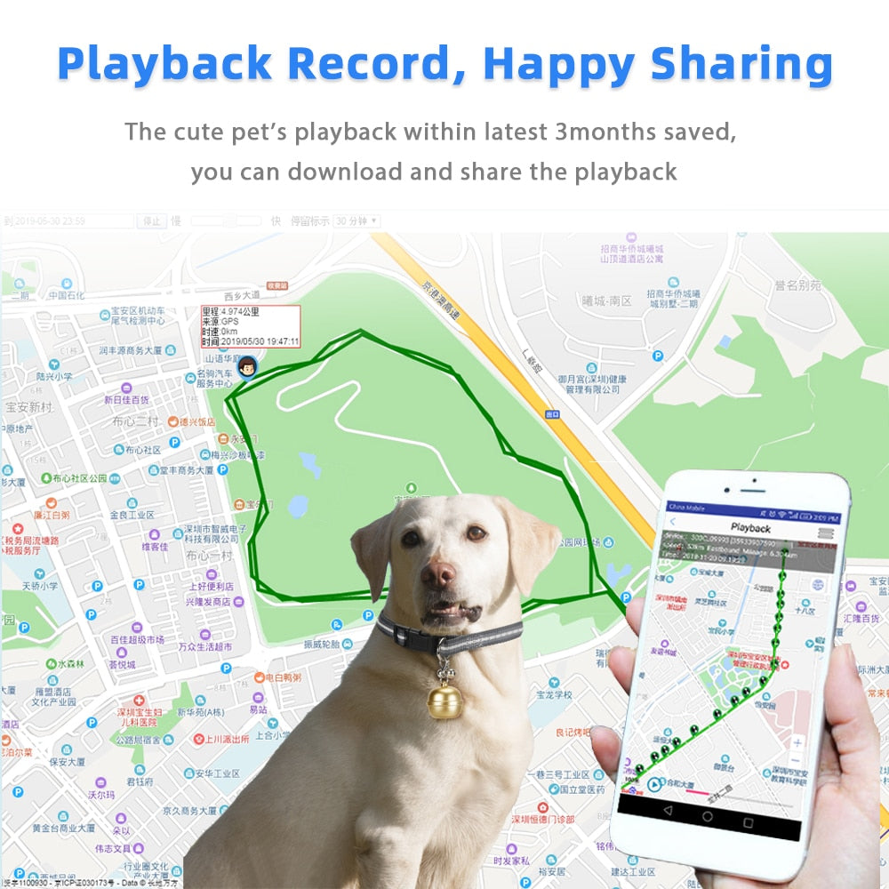 2021 New GPS Tracker for Children Lovely Bells Tracking Device Ip67 Waterproof Gps Locator for Pet Dog Cat with Rope G15