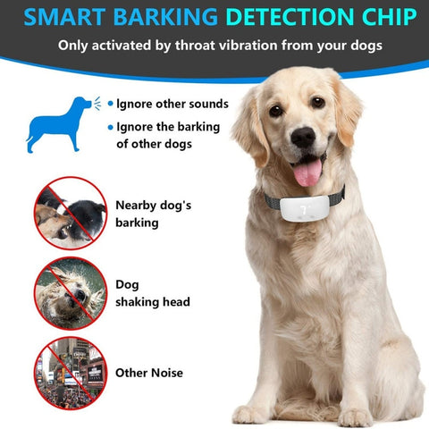 Image of 2021 New Dog Bark Collar Intelligent Dog Anti Bark Collar Adjustable Sensitivity And Intensity Dog Stop Barking Control Device