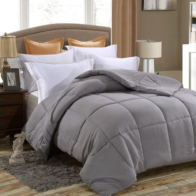 All-Season  Down Alternative Quilted Comforter - Corner Duvet Tabs - Hypoallergenic