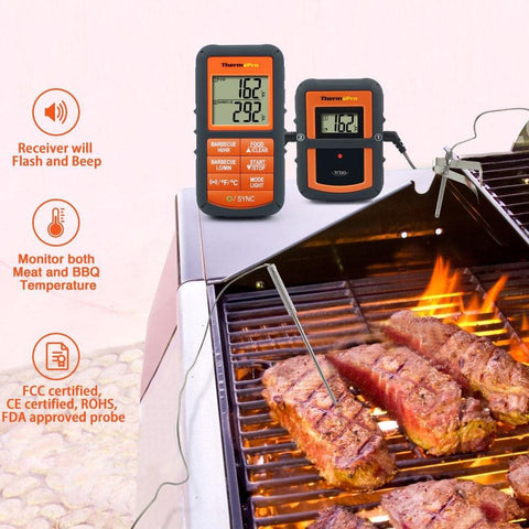 TP08 Wireless Remote Digital  Cooking Thermometer
