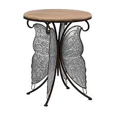 Image of RUSTIC BUTTERFLY ACCENT TABLE