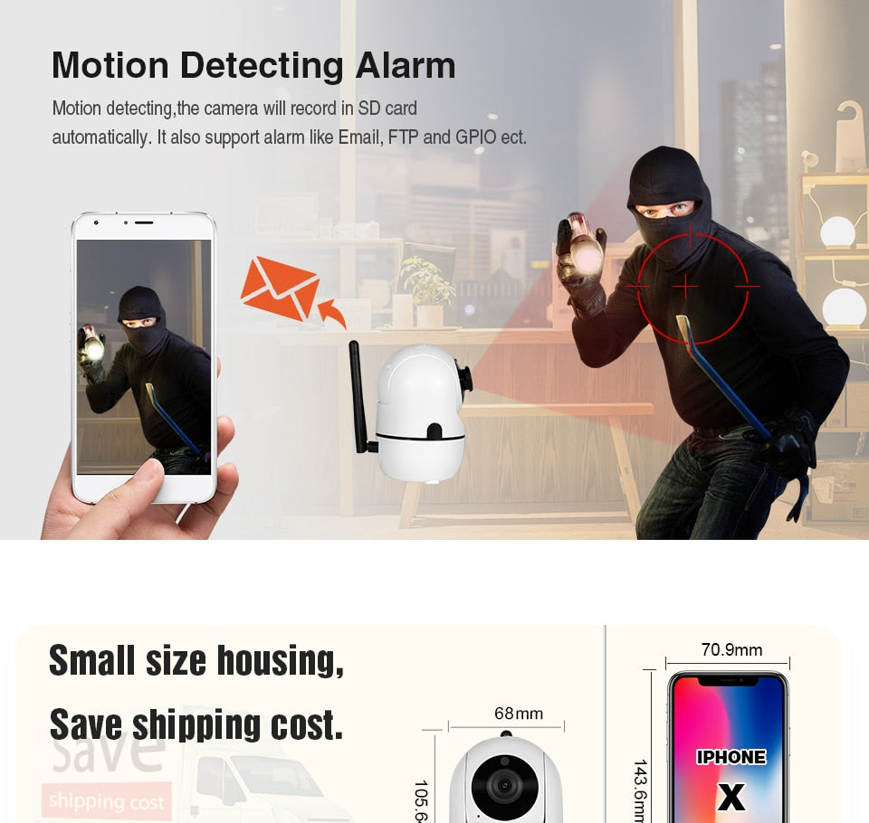 Cloud Wireless  Camera Intelligent Auto Tracking Of Home Security