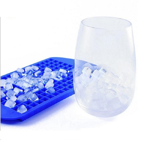 Image of Silicone 160 Grids Small Ice Maker Cube Trays.