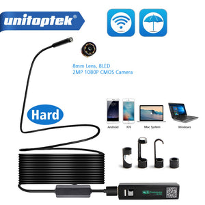 Wireless Endoscope Compatible iPhone Android,1200P HD Borescope Inspection Camera