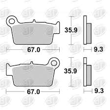 BRAKING BRAKE PAD SET SINTERED HIGH PERFORMANCE  890CM46