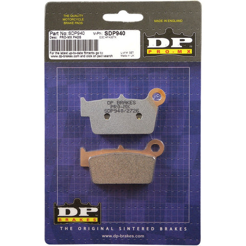 DP Brakes Pro MX High-Performance Brake Pads - SDP940