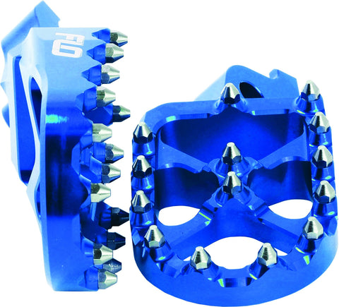 FLO MOTORSPORTS PRO SERIES FOOT PEGS BLUE YAM