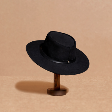 Kid's Black suede hat