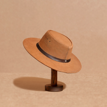 Kid's Chestnut suede hat