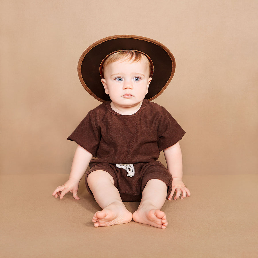 Kid's Sand suede hat