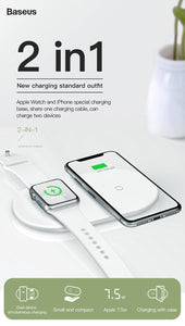 Baseus 2 in 1 Qi Wireless Charger