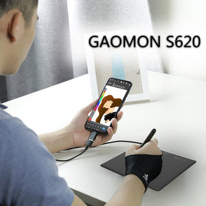 GAOMON S620 6.5 x 4 Inches 8192 Level Battery-free Pen Support Android Windows Mac Digital Graphic Tablet for Drawing & Game OSU
