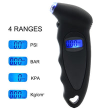 Load image into Gallery viewer, Sikeo Tire pressure gauge 0-150 PSI  Backlight High-precision digital tire pressure monitoring car tire pressure gauge