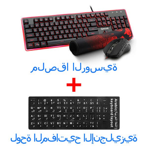Redragon S107 USB Gaming Membrane RGB Keyboard mouse pad combos 104 keys 3200 DPI 6 buttons Mice Set Wired computer PC game