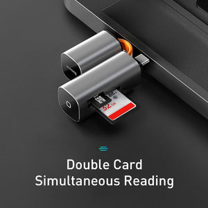 2 in 1 Card Reader for PC and Smart Phones