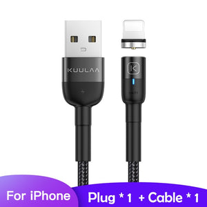 KUULAA Magnetic Micro USB Type C Cable For iPhone Xiaomi Android Mobile Phone Fast Charging USB Cable Magnet Charger Wire Cord