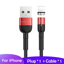 Load image into Gallery viewer, KUULAA Magnetic Micro USB Type C Cable For iPhone Xiaomi Android Mobile Phone Fast Charging USB Cable Magnet Charger Wire Cord