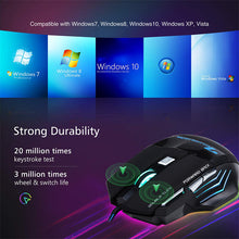 Load image into Gallery viewer, Wired iMice Ergonomic Gaming 5500 DPI Silent Mouse - 7 Button