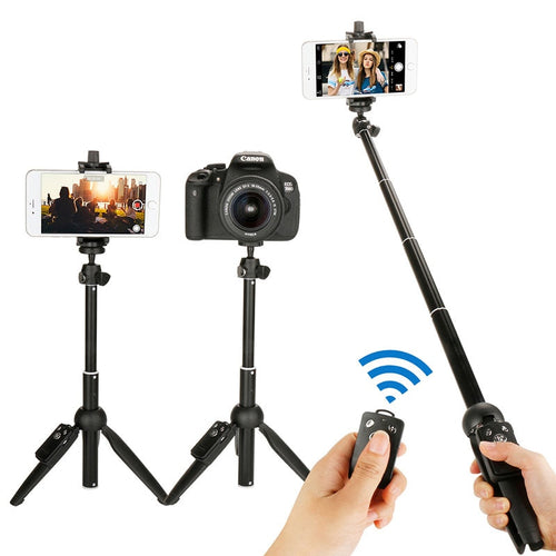 Yunteng Portable Bluetooth Selfie Stick with Tripod Extendable Foldable Monopod for iphone 11 x Huawei Xiaomi Action Camera DSLR