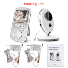 Load image into Gallery viewer, Wireless LCD Audio Video Baby Monitor VB605 Radio Nanny Music Intercom IR 24h Portable Baby Camera Baby Walkie Talkie Babysitter