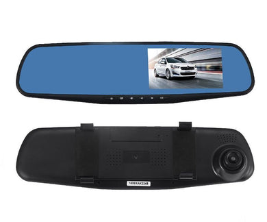 1080P Car DVR Dual Lens Rear View Mirror Camera