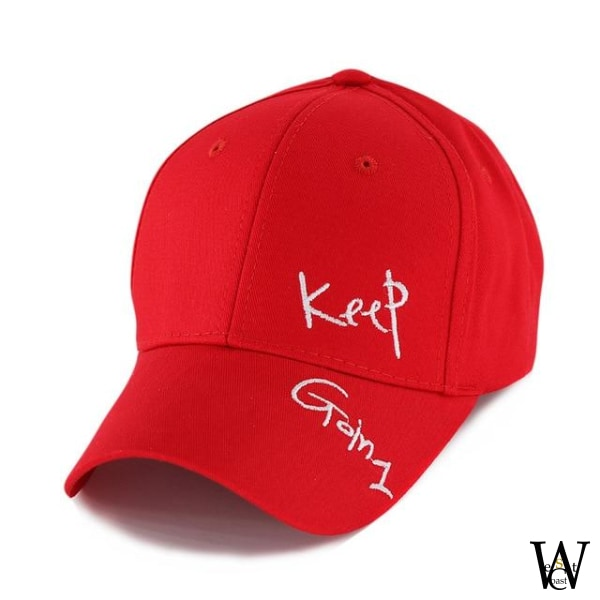 Casquette Keep Going Rouge