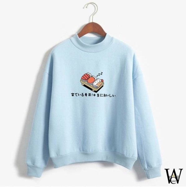 Sweat Shirt Sushi Me Bleu / S
