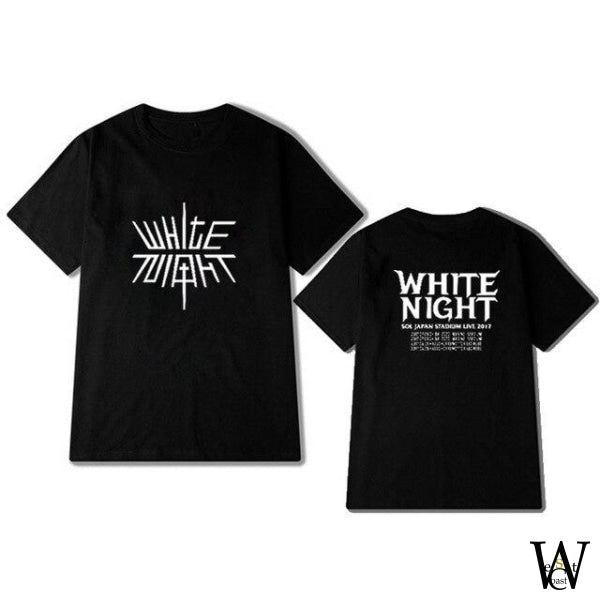 T Shirt Taeayang White Night Edition Limited Noir / Xs