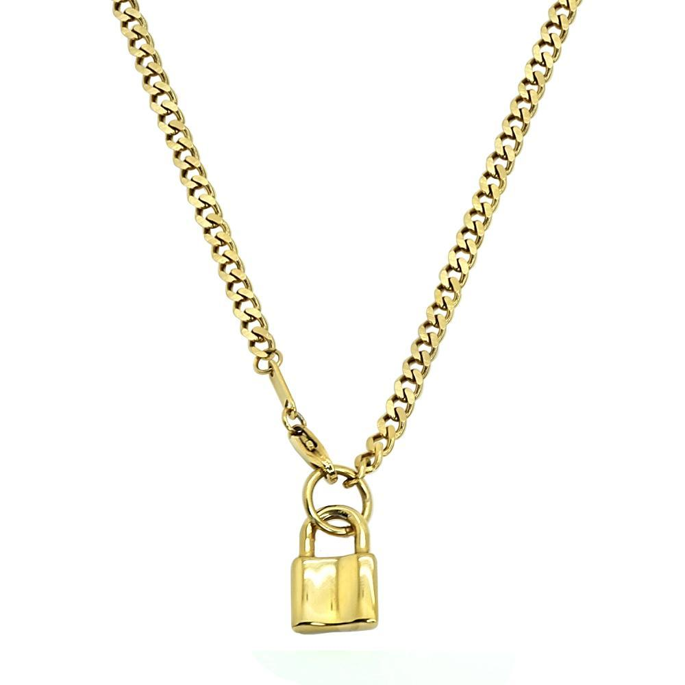 Cuban Link with Lock Chain