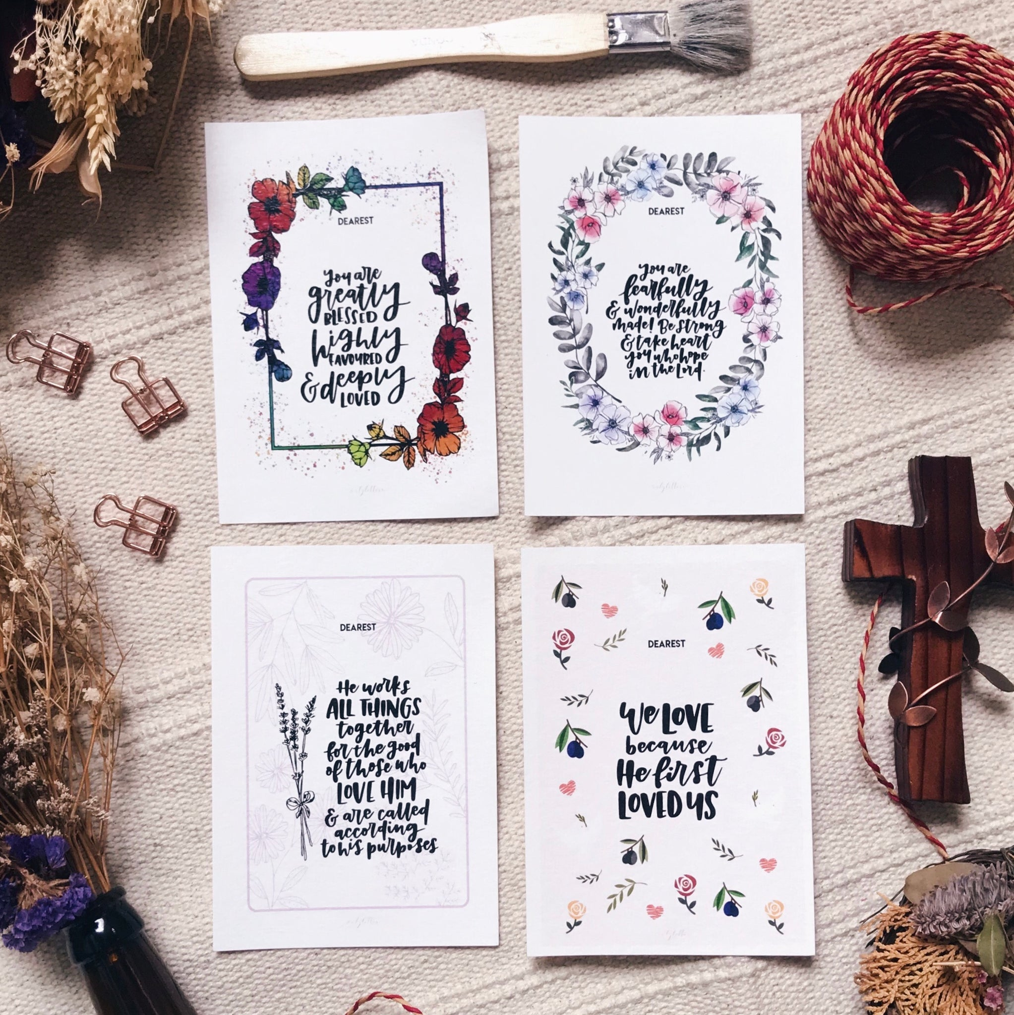 Grace Abounds - Blessing Cards (Set of 6)