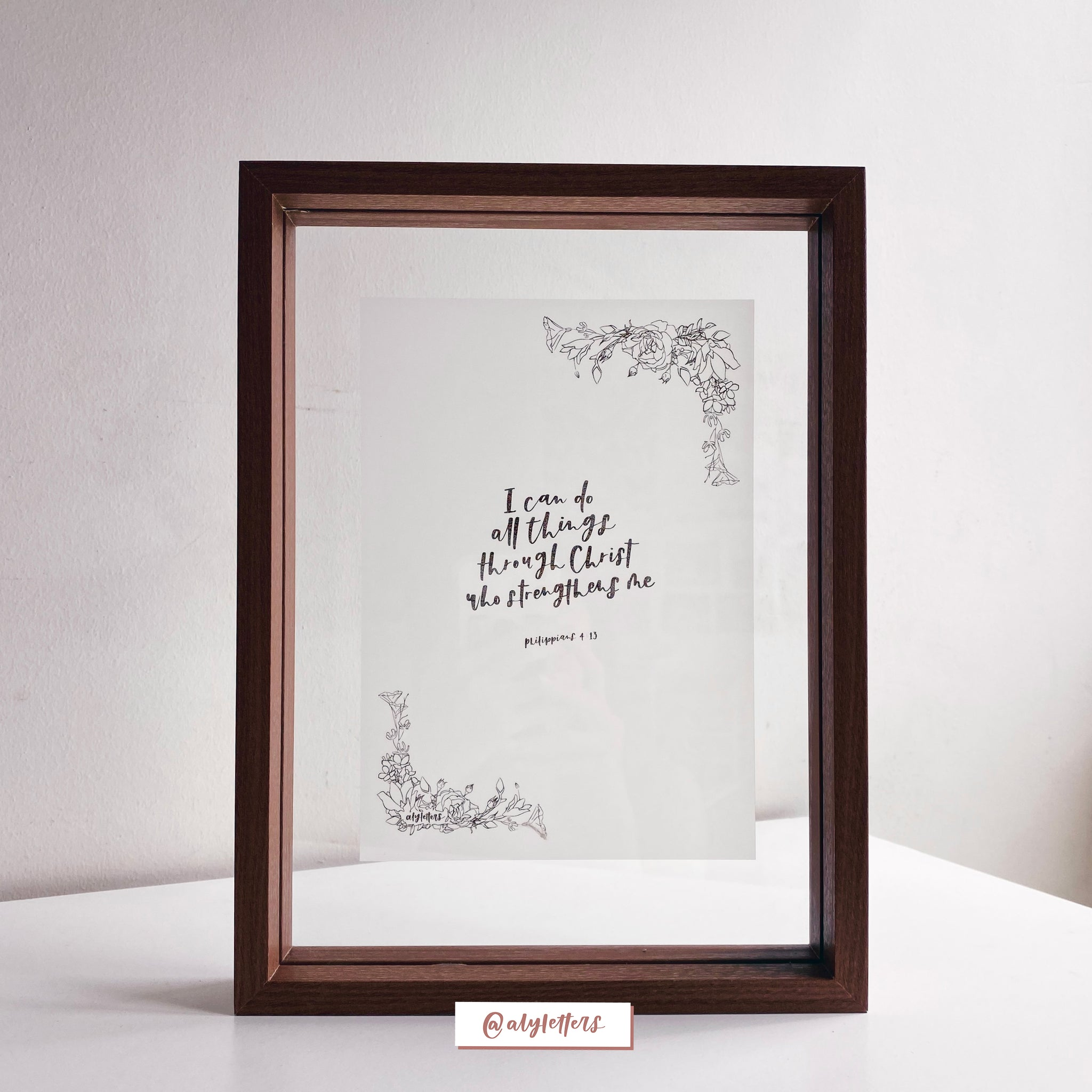 Vellum Artwork in Floating Frame